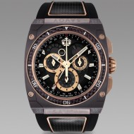 Savoy Extreme Carbon 43mm Swiss Made Limited Edition Brown IP Carbon - Black